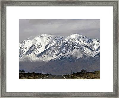 Driving In Idaho Framed Print