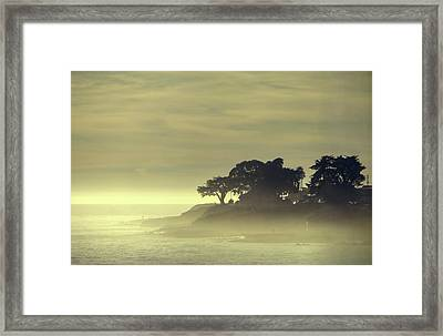 Framed Print featuring the photograph Driving Into The Settling Sun by Quality HDR Photography