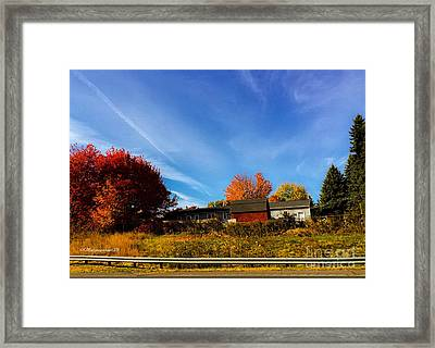 Driving On A Fall Day Framed Print by MaryLee Parker