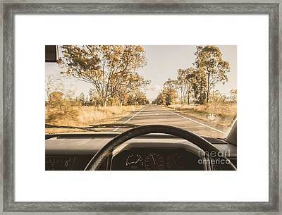 Driving On Rural Australian Road Framed Print by Jorgo Photography - Wall Art Gallery