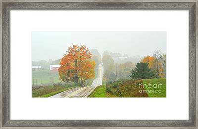 Driving Rain Framed Print by Terri Gostola