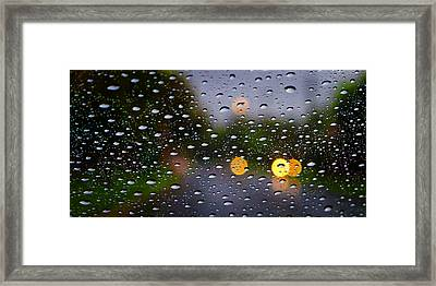 Driving Rain Framed Print