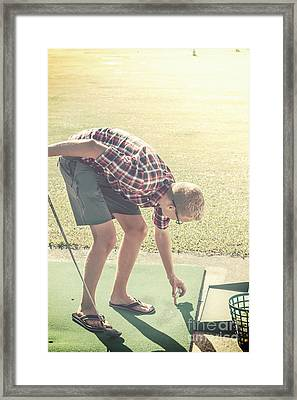 Driving Range Golf Framed Print by Jorgo Photography - Wall Art Gallery