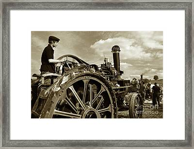 Driving The Engine Framed Print by Rob Hawkins