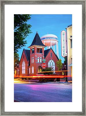 Driving Through 2nd And A Street - Bentonville Arkansas Framed Print