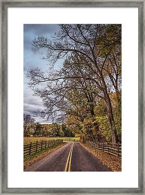 Driving Through Antietam Framed Print by John M Bailey