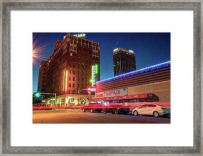 Driving Through Downtown Amarillo Texas  Framed Print by Gregory Ballos