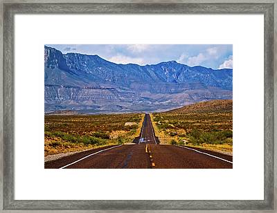 Driving To The Blue Framed Print