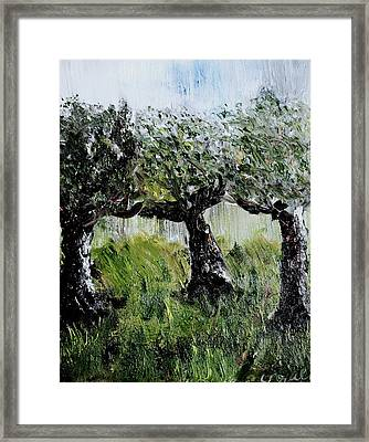 Framed Print featuring the painting Drizzle by Evelina Popilian
