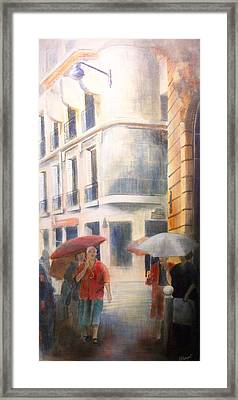 Drizzle Framed Print by Victoria Heryet