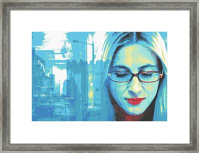 Drogheda Blue Framed Print by Shay Culligan