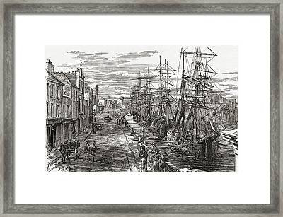 Drogheda Harbour, County Louth, Ireland Framed Print by Vintage Design Pics
