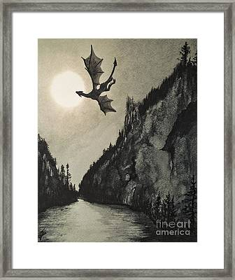 Framed Print featuring the painting Drogon's Lair by Suzette Kallen