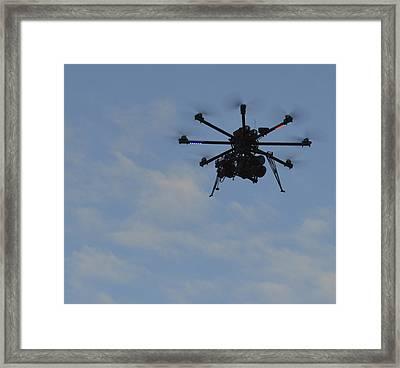 Drone Framed Print by Linda Geiger