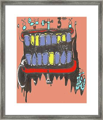 Drool Framed Print by Robert Wolverton Jr