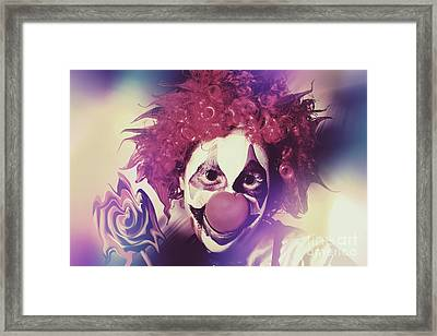 Droopy The Clown With Mind Bending Magic Framed Print by Jorgo Photography - Wall Art Gallery