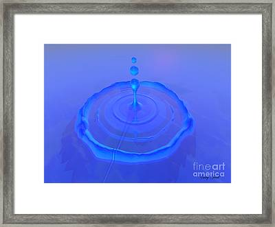 Drop Framed Print by Corey Ford