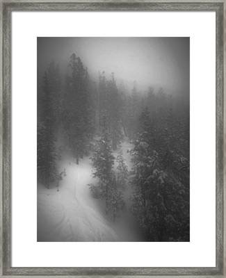 Framed Print featuring the photograph Drop In by Mark Ross