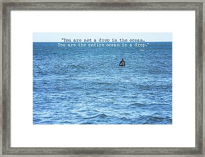 Drop In The Ocean Surfer  Framed Print by Terry DeLuco