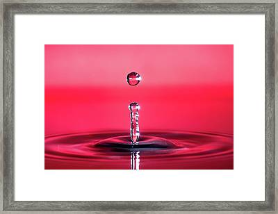 Drop Of Red Framed Print