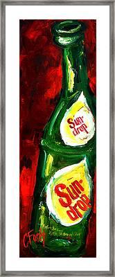 Drop Of Sun Framed Print