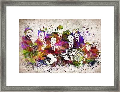 Dropkick Murphys In Color Framed Print by Aged Pixel