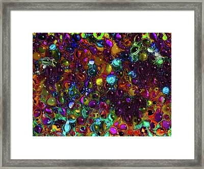Droplet Abstract Framed Print by Stuart Turnbull