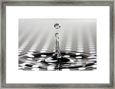 Droplet Dots Framed Print