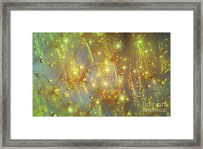 Droplets And Stars By Kaye Menner Framed Print