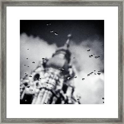 Droplets Framed Print by Dave Bowman