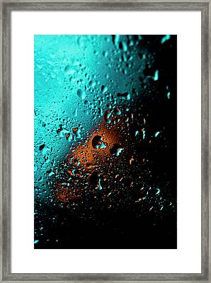 Droplets V Framed Print by Grebo Gray