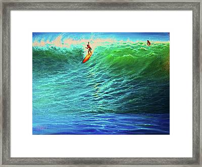 Dropping In Framed Print