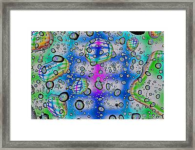 Framed Print featuring the photograph Drops And Small Pools  by Vladimir Kholostykh