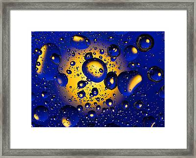 Framed Print featuring the photograph Drops Fantasy  by Vladimir Kholostykh