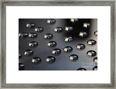 Drops Of Water -macro Framed Print