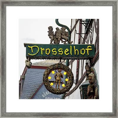 Drosselhof Neon Sign Framed Print
