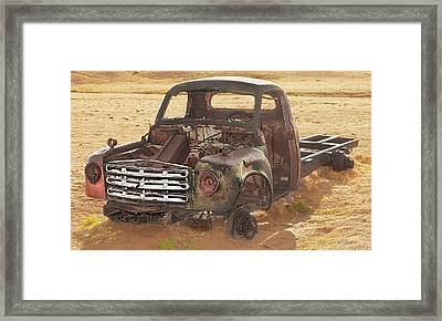 Drought And '51 Studebaker Framed Print