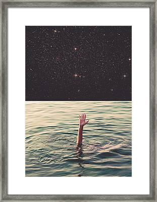 Drowned In Space Framed Print by Fran Rodriguez