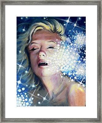 Drowning In A Sea Of Stars Framed Print by Simon Kregar