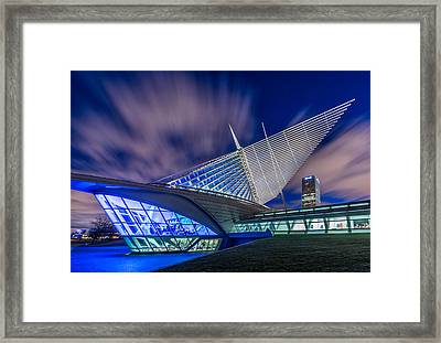 Drowning In The Blues Framed Print