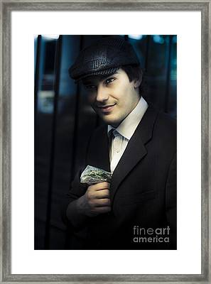 Drug Dealer With Marijuana Framed Print by Jorgo Photography - Wall Art Gallery