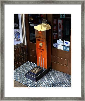 Drugstore Fortune Teller Framed Print by Doug Strickland