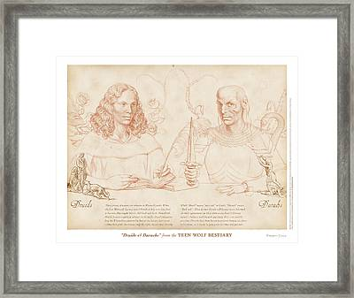 Druids And Darachs Framed Print by Swann Smith