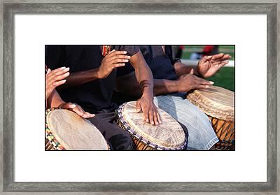 Drum Rhythm Framed Print