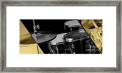 Drum Set Collection Framed Print by Marvin Blaine