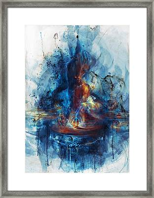 Framed Print featuring the digital art Drum by Te Hu