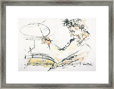 Drummer 2 Framed Print by Nicolay Paskevich