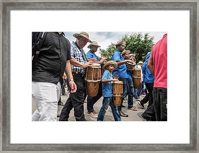 Drummer Boy In Parade Framed Print