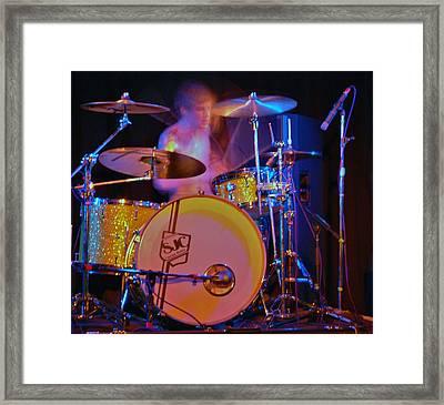 Drummer Boy Framed Print by Joy Bradley