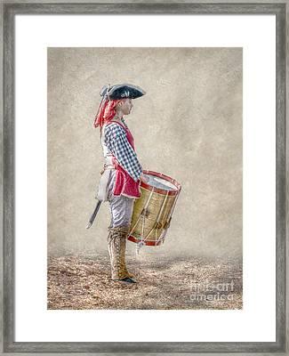 Drummer Boy Portrait  Ver 2 Framed Print by Randy Steele